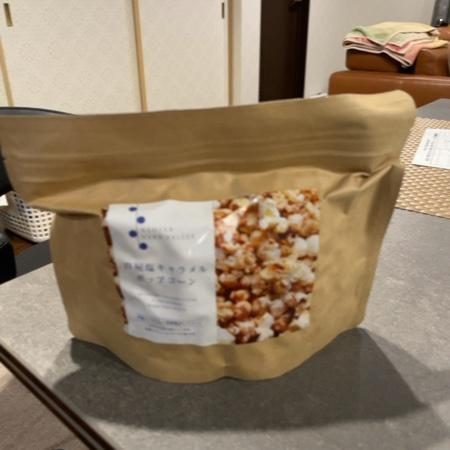 シーソルトポップコーン 塩キャラメル味 【芦屋ハーブバレーパルセイユ】のパッケージ画像