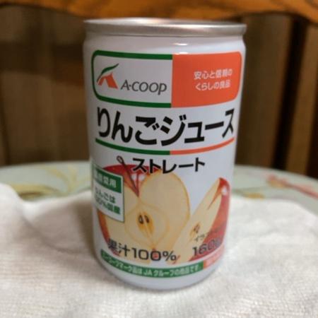 りんごジュース ストレート 【エーコープ】のパッケージ画像