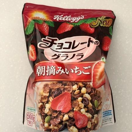 チョコレートのグラノラ 朝摘みいちご 【ケロッグ】のパッケージ画像
