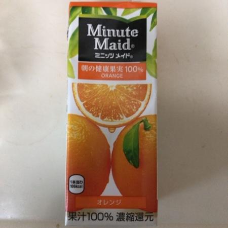 オレンジ100% 【ミニッツメイド】のパッケージ画像