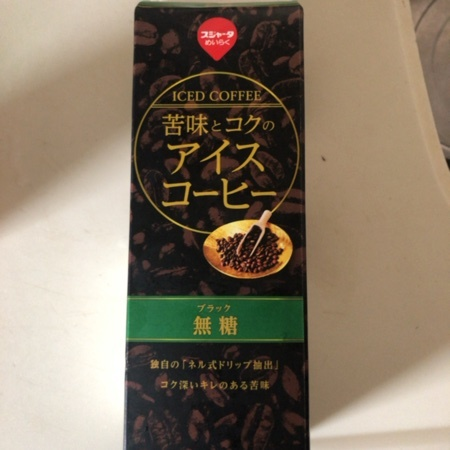 スジャータ アイスコーヒー 苦味とコク 無糖 1000ml 【めいらく】のパッケージ画像