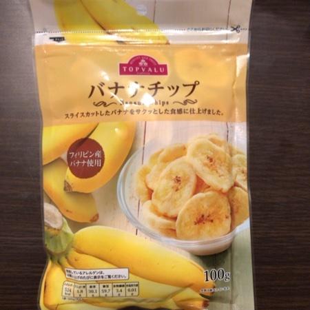 トップバリュ バナナチップ 【イオン】のパッケージ画像