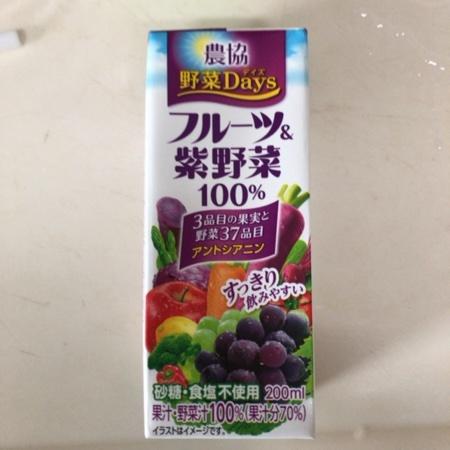 野菜DAYS フルーツ&紫野菜100% 【農協】のパッケージ画像