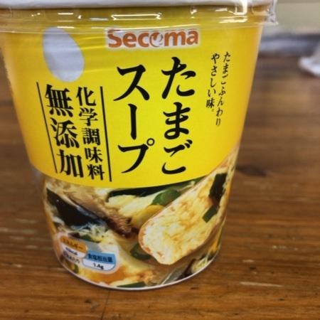 Secoma 化学調味料無添加 たまごスープ 【セイコーマート】のパッケージ画像