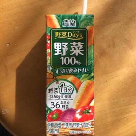 農協 野菜Days 野菜100% 【雪印メグミルク】のパッケージ画像