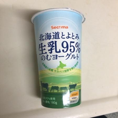 Secoma 北海道とよとみ生乳95%のむヨーグルト 【セイコーマート】のパッケージ画像