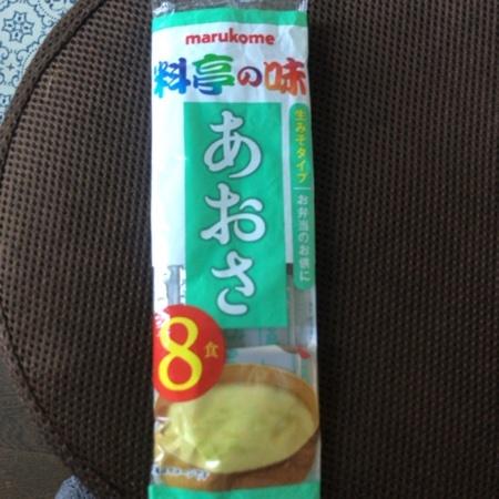 生みそ汁 料亭の味 あおさ 8食 【マルコメ】のパッケージ画像