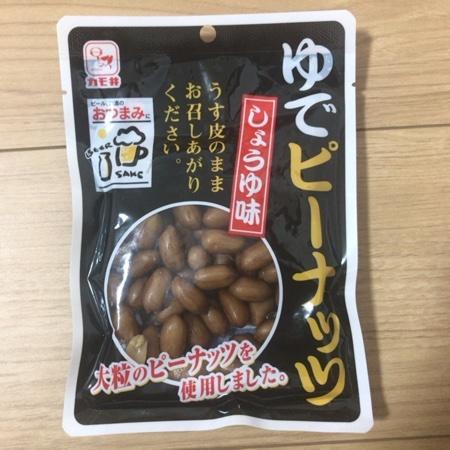 ゆでピーナッツ しょうゆ味 【カモ井食品】のパッケージ画像