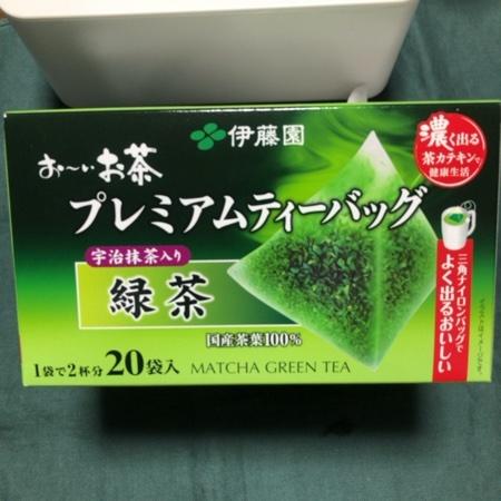 おーいお茶 プレミアムティーバッグ 宇治抹茶入り緑茶 【伊藤園】のパッケージ画像
