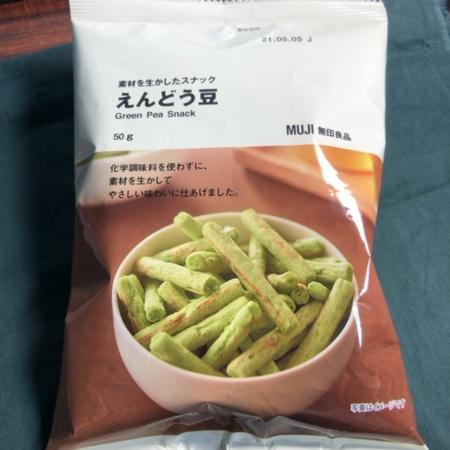 素材を生かしたスナック えんどう豆 【無印良品】のパッケージ画像