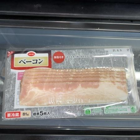 無塩せきベーコン(スライス) 【コープ】のパッケージ画像